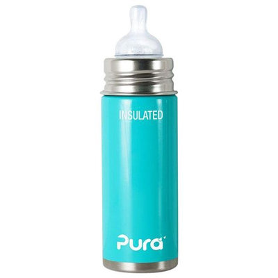 Pura Insulated Infant Bottle with Nipple - Aqua - 9 oz - 1 ct.