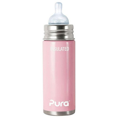 Pura Insulated Infant Bottle with Nipple - Light Pink - 9 oz - 1 ct.