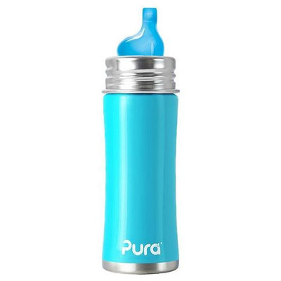 Pura Kiki Sippy Bottle XL Sipper - Aqua Blue - 11oz
