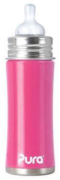 Pura Kiki Infant Bottle Natural Vent Nipple - Pretty Pink - 11oz