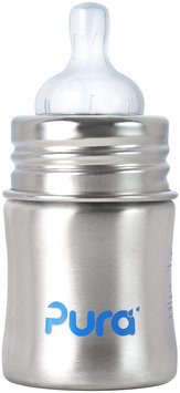 Pura Infant Bottle with Vent Nipple - Natural Stainless - 1 ct.
