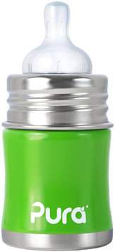 Pura Infant Bottle with Slow Vent Nipple - Spring Green - 5 oz - 1 ct.