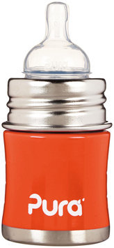 Pura Infant Bottle with Slow Vent Nipple - Orange - oz - 1 ct.