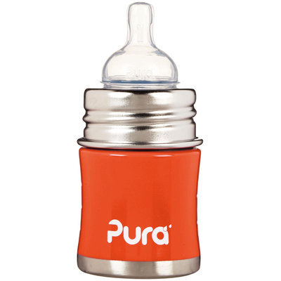 Pura Infant Bottle with Slow Vent Nipple - Orange - oz - 1 ct.