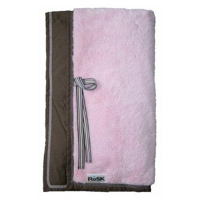 Rain or Shine Kids Woobee Plush Blanket - Pink/Chocolate