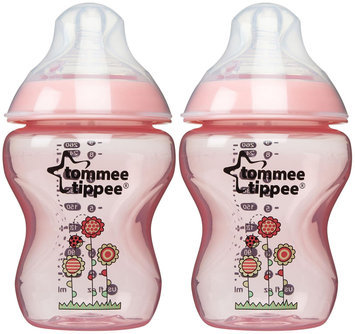 Babies R Us Tommee Tippee Closer to Nature 9oz Bottle X2 - Girl