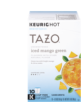 Tazo Unsweetened Iced Mango Green K‑cup® Pods