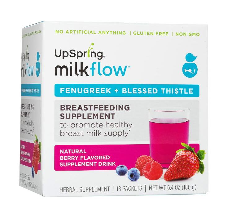UpSpring Milkflow Fenugreek + Blessed Thistle Powder Drink Mix (Berry)