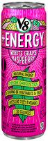 V8® +Energy White Grape Raspberry Lightly Carbonated Juice
