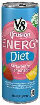 V8® V-Fusion + Energy Diet Strawberry Lemonade