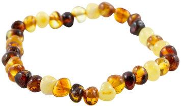 Healing Hazel 100% Baltic Amber Adult Elastic Bracelet - Multi Polished 7