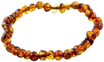 Healing Hazel 100% Baltic Amber Adult Elastic Bracelet - Cognac Polished 7.5