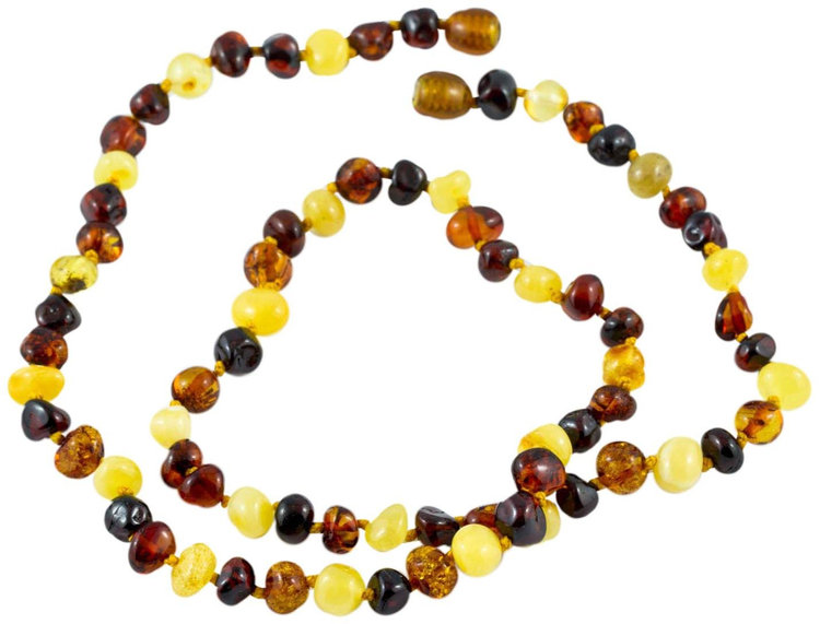 "Healing Hazel 100% Baltic Amber Adult Necklace - Multi Polished 18""-20"" - 1 ct."