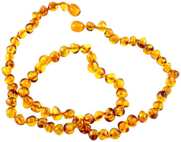 Healing Hazel 100% Baltic Amber Adult Necklace - Cognac Polished 18