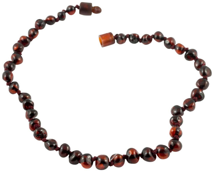 "Healing Hazel 100% Baltic Amber Baby Necklace - Cherry Polished 10.5"" - 1 ct."