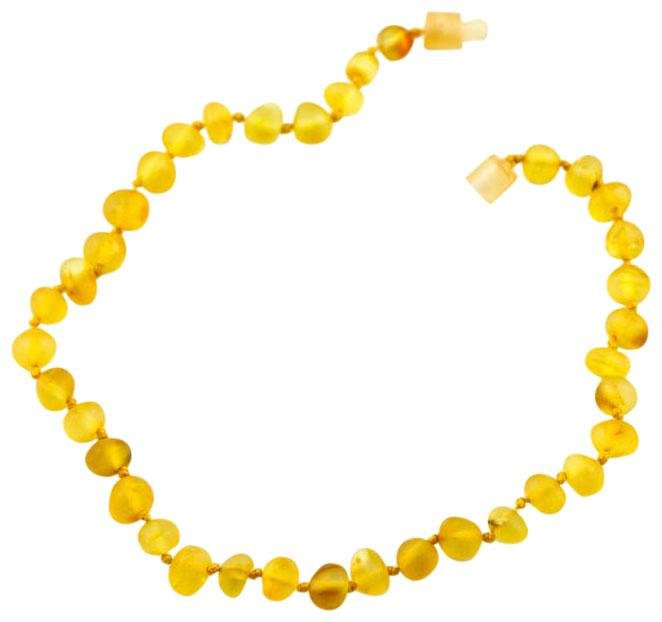 "Healing Hazel 100% Baltic Amber Baby Necklace - Honey Raw 12""-13"" - 1 ct."
