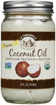 La Tourangelle Refind Organic Coconut Oil - Refined Organic - 14 oz