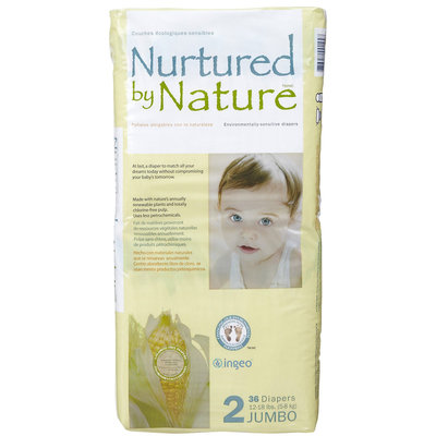 Nurtured By Nature Diapers Jumbo Pack - 36 ct.