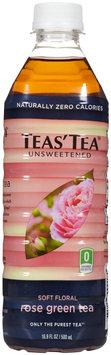 Teas Tea Tea's Tea Green Tea - Unsweetened Rose - 16.9 oz - 12 ct