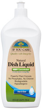 If You Care DISH DETERGENT, FREE & CLEAR, (Pack of 12)