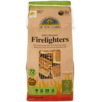 If You Care - Firelighters Wood Starting Cubes - 72 Pieces