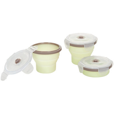 Babymoov Silicone Containers Set - Grey/Green - 3 ct