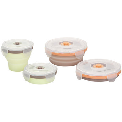 Babymoov Silicone Containers Set - Grey/Green - 4 ct