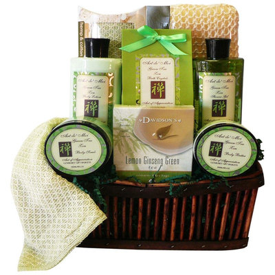 Art of Appreciation Gift Baskets Green Tea Zen Spa Bath and Body Gi.