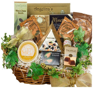 Art of Appreciation Gift Baskets Savory Sophisticated Gourmet Food Gift Basket w/ Caviar