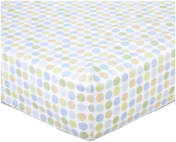 Luvable Friends Fitted Crib Sheet Flannel 28x52 Boy Circle
