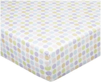 Luvable Friends Fitted Crib Sheet Flannel 28x52 Girl Circle