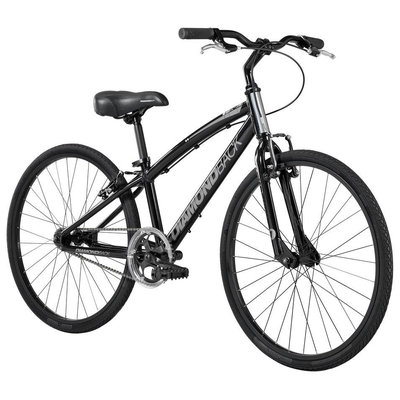 Diamondback 2015 Insight Complete Youth Single Speed Performance Hybrid Bike (24-inch Wheels)