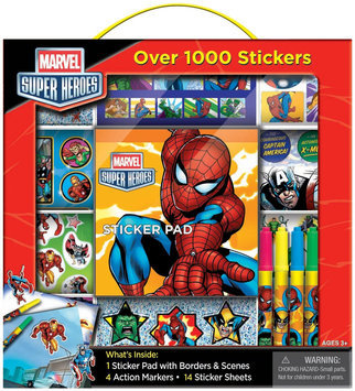 Artistic Studios Disney Marvel Super Heroes Sticker Box with Handle Activity Set