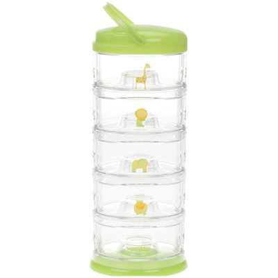 Innobaby Stackable Storage Container - Packin' SMART - 5 Tier - Green