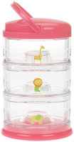Innobaby Stackable Storage Container - Packin' SMART - 3 Tier - Pink