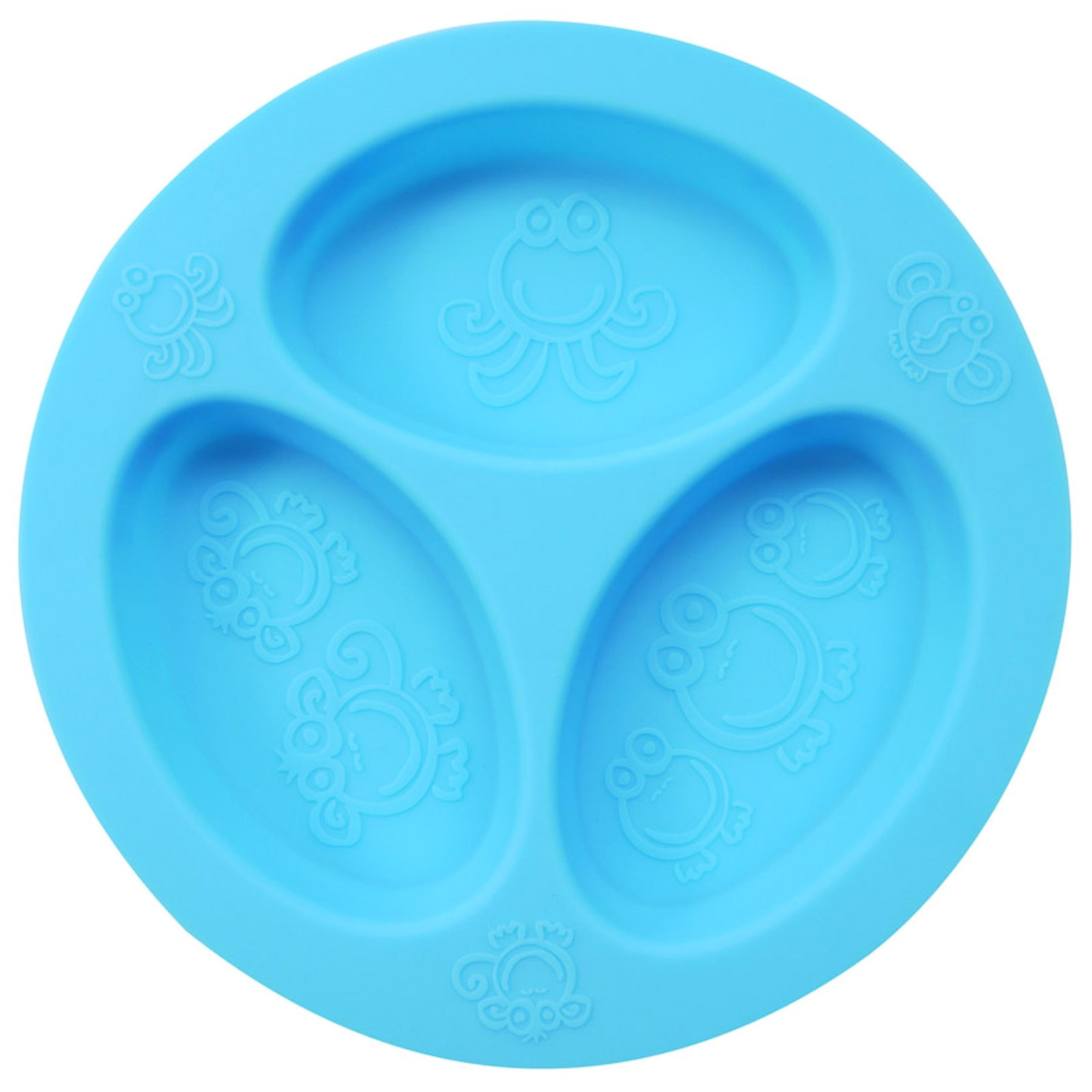 oogaa Baby and Toddler Divided Plate - Blue - 1 ct.