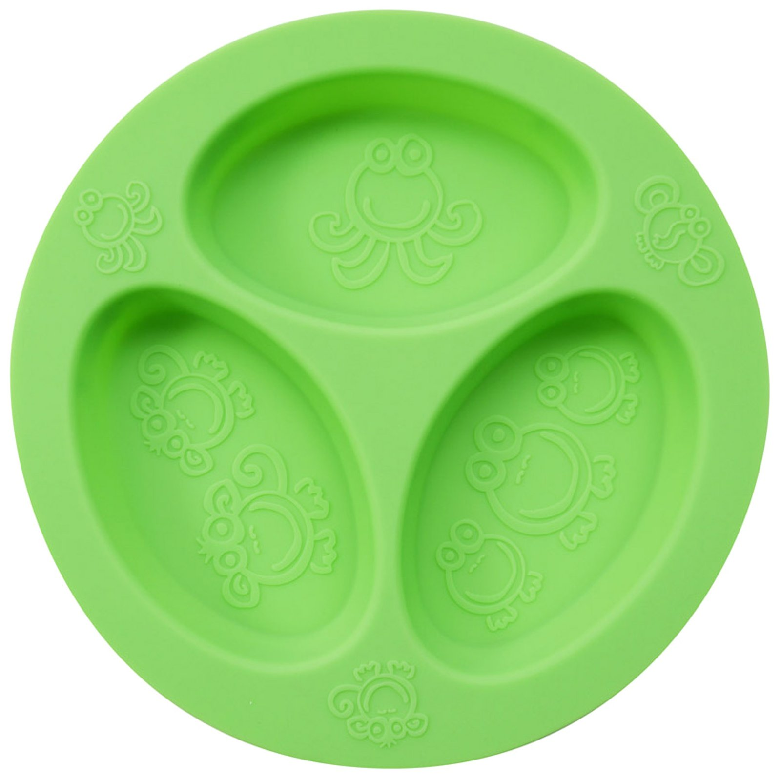 oogaa Baby and Toddler Divided Plate - Green - 1 ct.