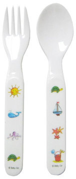 Baby Cie Fork & Spoon - Ocean Animals - Aqua - 1 ct.