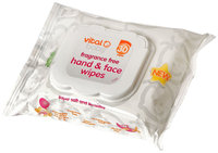 Vital Baby Fragrance Free Hand & Face Wipes - 30 ct