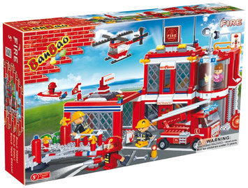 BanBao Fire Station (702 pcs) - 1 ct.