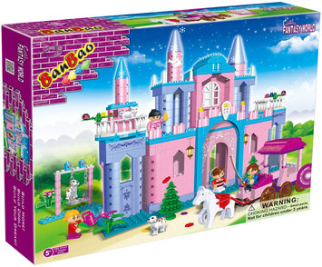 BanBao Pink Castle with Carriage