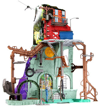 Playmates Teenage Mutant Ninja Turtles 42 Inch Tall Secret Sewer Lair Playset with Sound