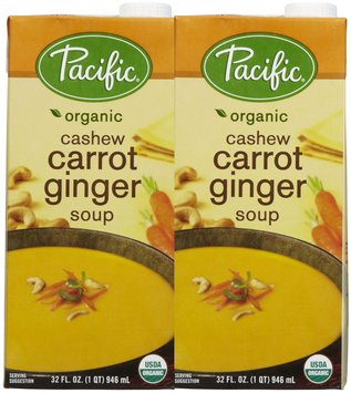 Pacific Natural Foods Cashew Carrot Ginger Soup, 32 oz, 2 pk