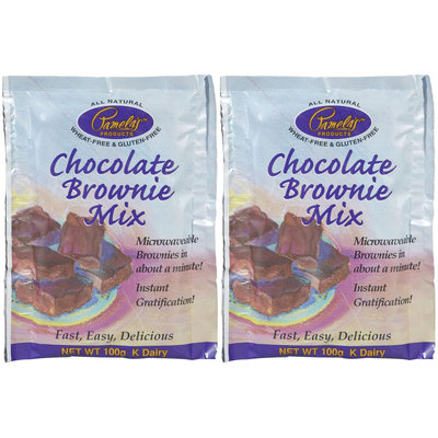 Pamela's Products Chocolate Brownie Mix, 3.52 oz, 2 pk