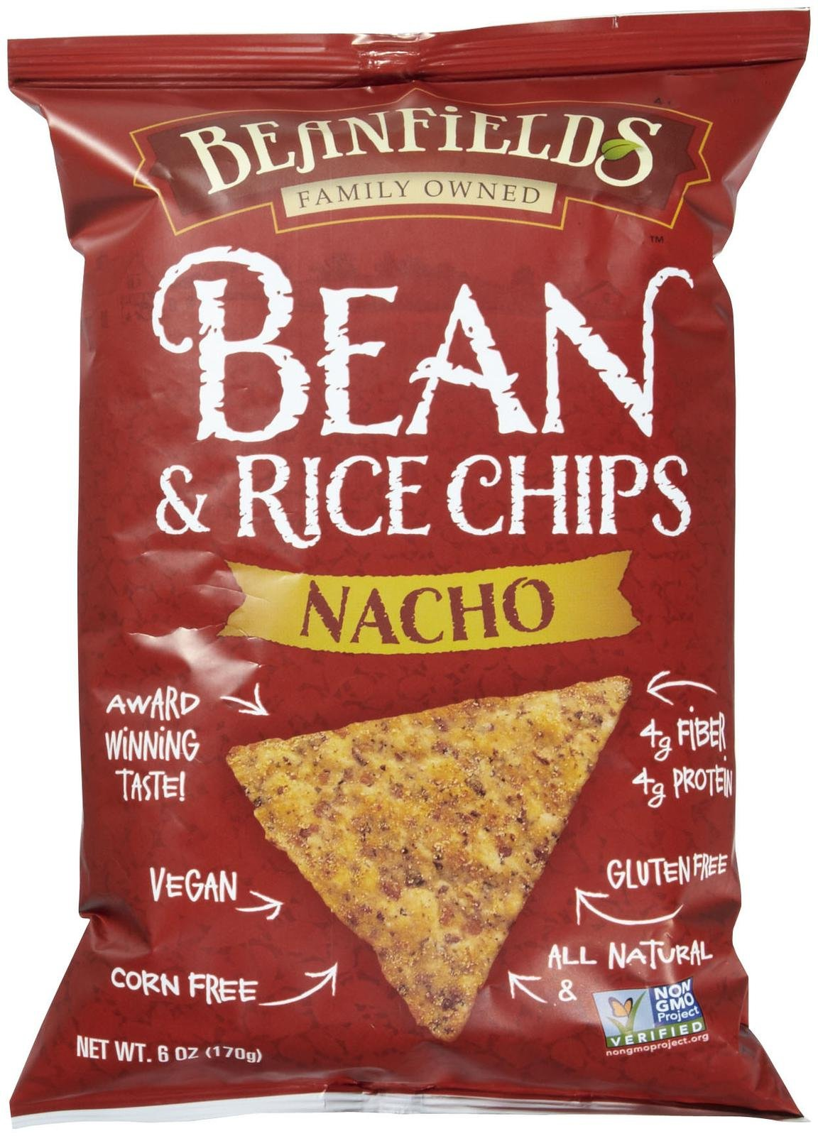 Beanfields Bean & Rice Chips Nacho - 6 oz - Vegan