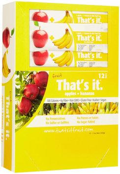That's It. That's It Fruit Bars - Apple & Banana - 1.2 OZ - 12 ct