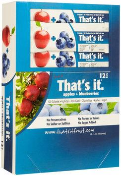 That's It. That's It Fruit Bars - Apple & Blueberry - 1.2 OZ - 12 ct
