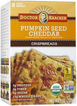 Doctor Kracker Pumpkin Seed Cheddar Crispbread, 7 oz