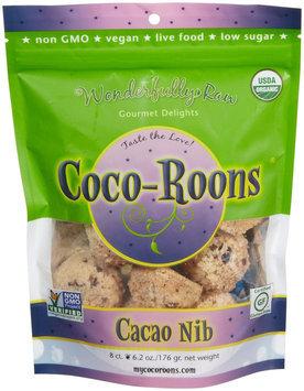 Wonderfully Raw Coco-Roons Organic Gluten Free Cacao Nib 6.2 oz - Vegan