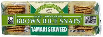 Edward & Sons Brown Rice Snaps Tamari Seaweed 3.5 oz